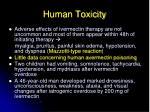 human toxicity