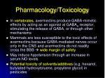 pharmacology toxicology1