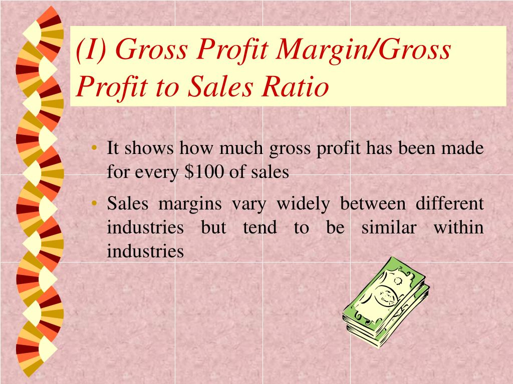 (I) Gross Profit Margin/Gross Profit to Sales Ratio
