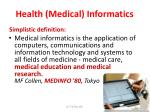 health medical informatics
