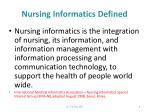nursing informatics defined