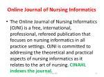 online journal of nursing informatics