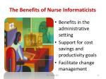 the benefits of nurse informaticists33