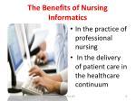 the benefits of nursing informatics