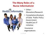 the many roles of a nurse informaticist39