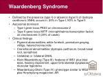 waardenberg syndrome