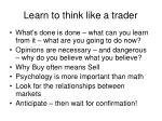 learn to think like a trader