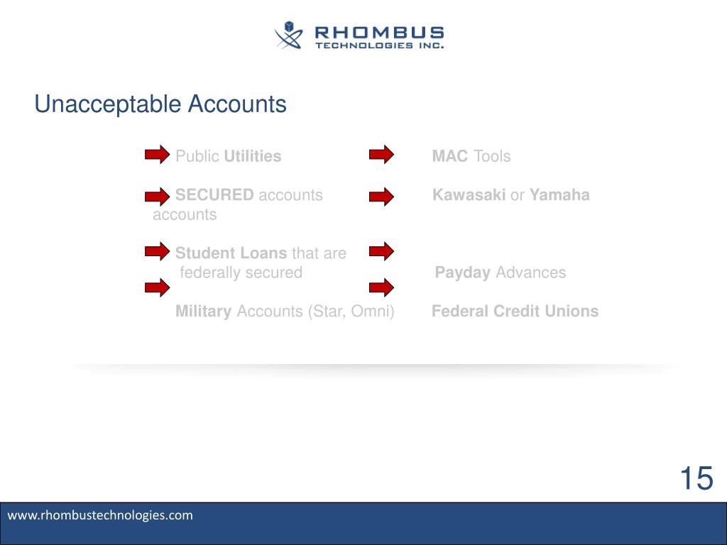 Unacceptable Accounts