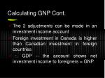 calculating gnp cont