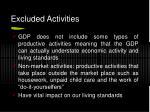 excluded activities