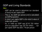 gdp and living standards