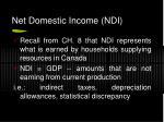 net domestic income ndi