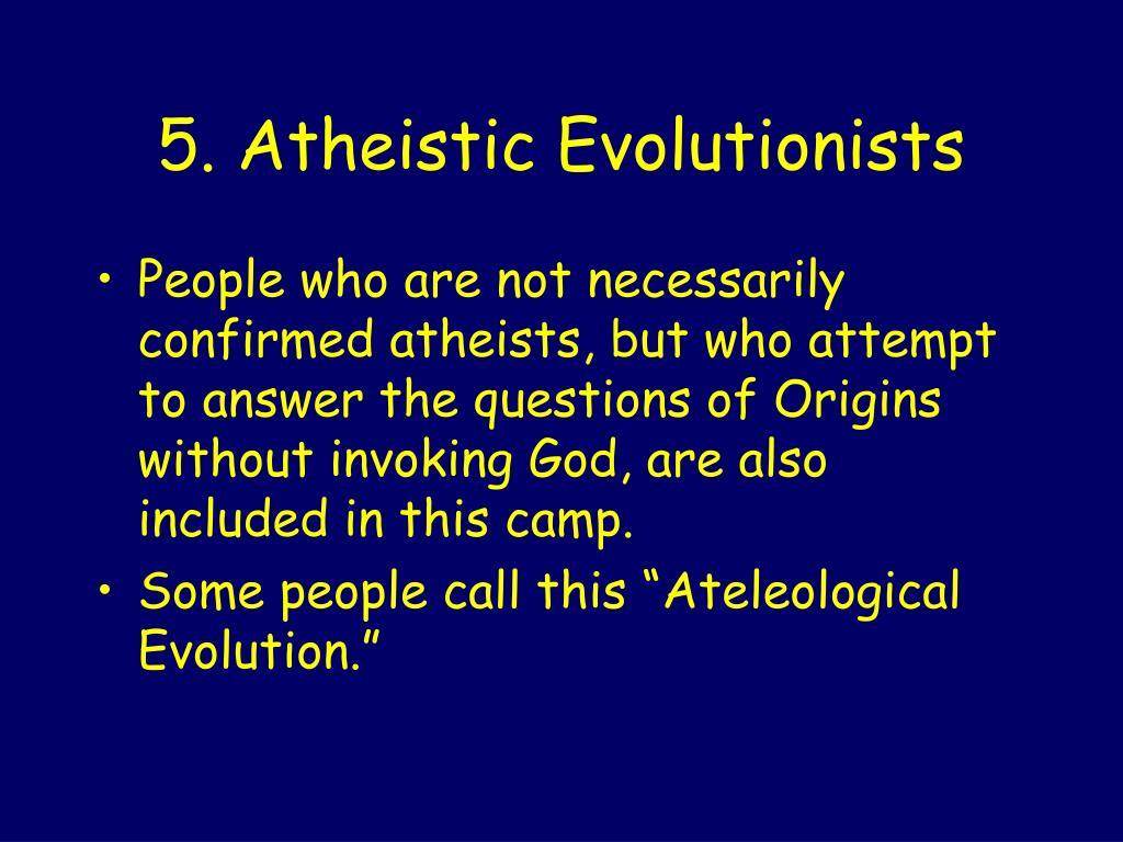 list confirmed athesist
