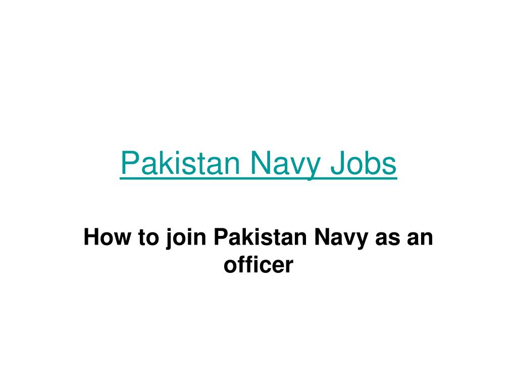 pakistan navy jobs l.