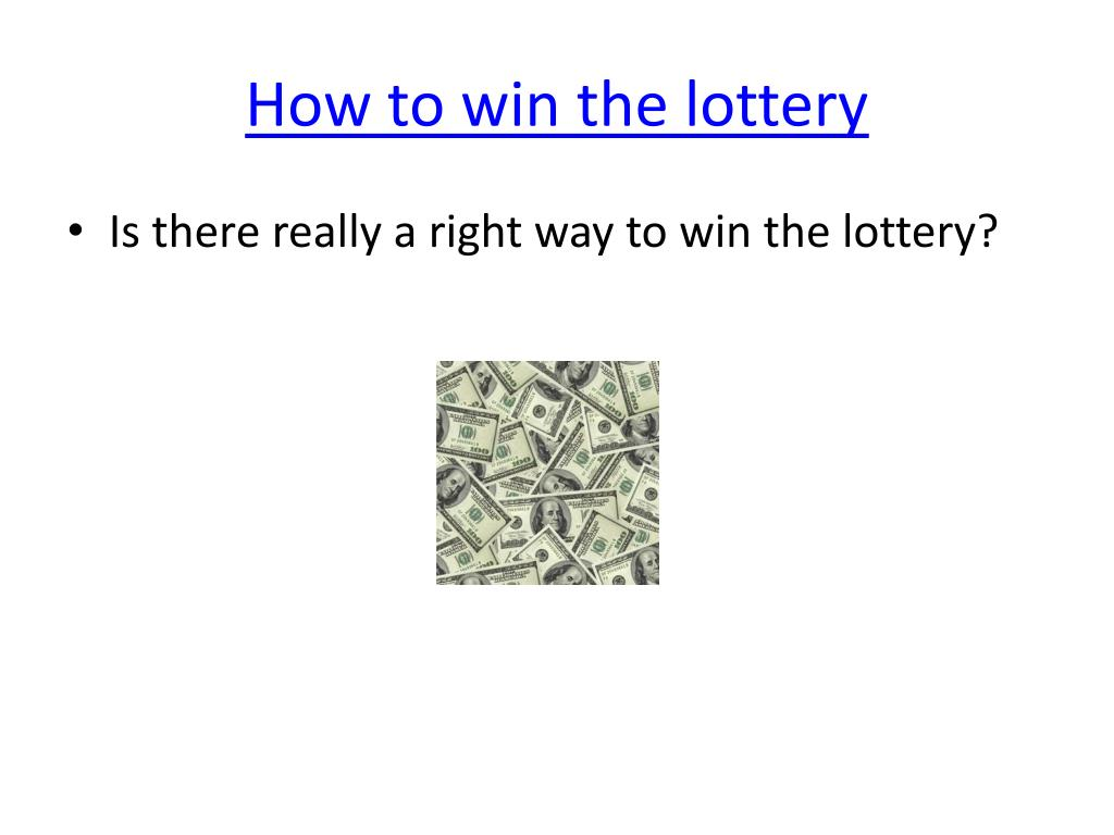 how to win the lottery l.