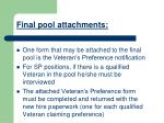 final pool attachments
