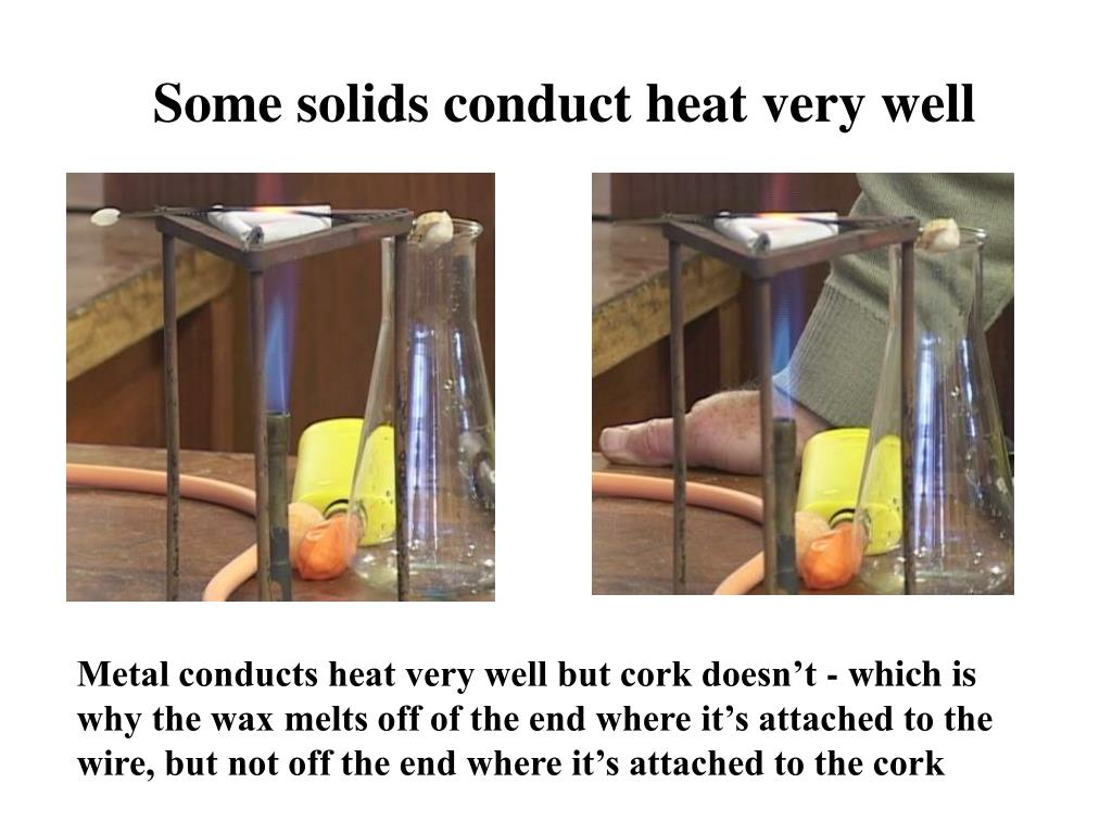 some solids conduct heat very well l.