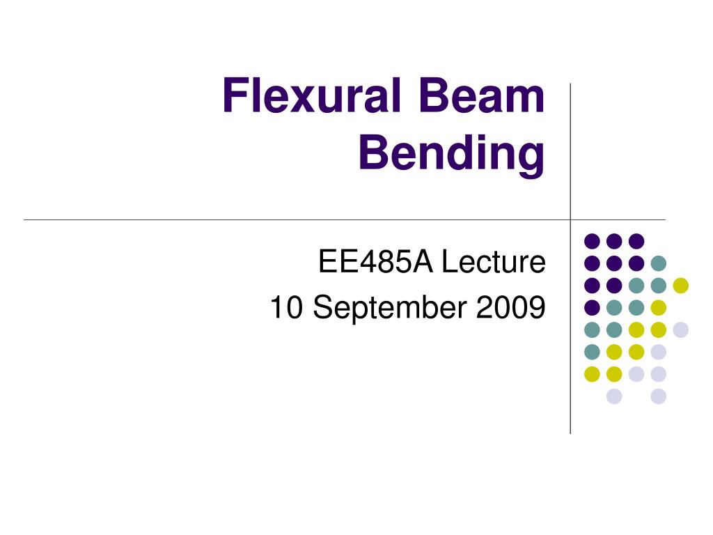 flexural beam bending l.