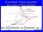 convolution volume segmented into voxels volume elements