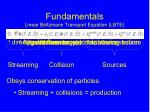 fundamentals linear boltzmann transport equation lbte