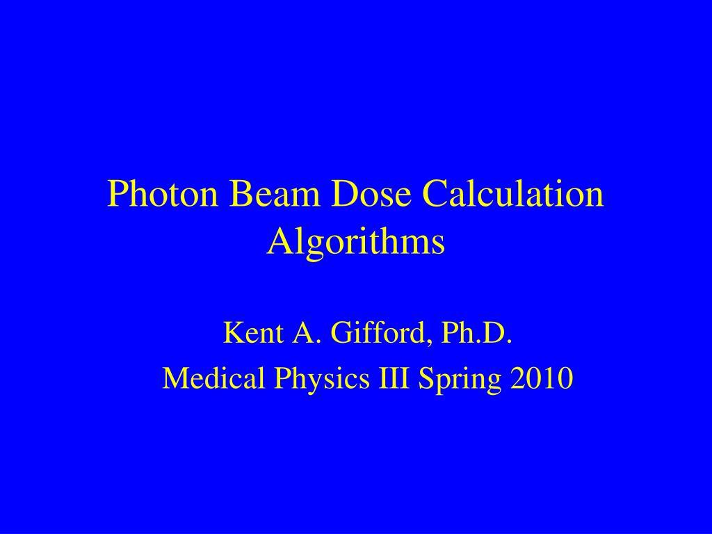 photon beam dose calculation algorithms l.
