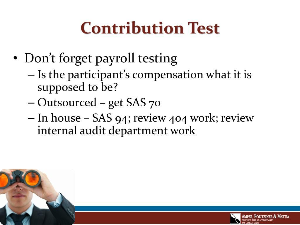Contribution Test
