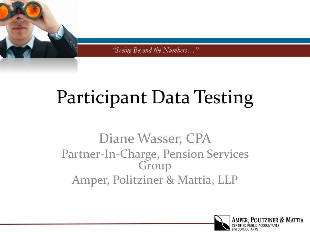 participant data testing l.