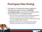 participant data testing5