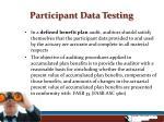 participant data testing6
