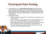 participant data testing7