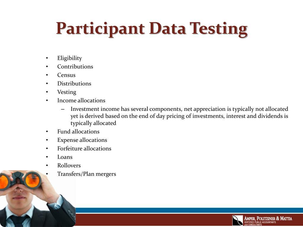 Participant Data Testing