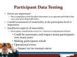 participant data testing9