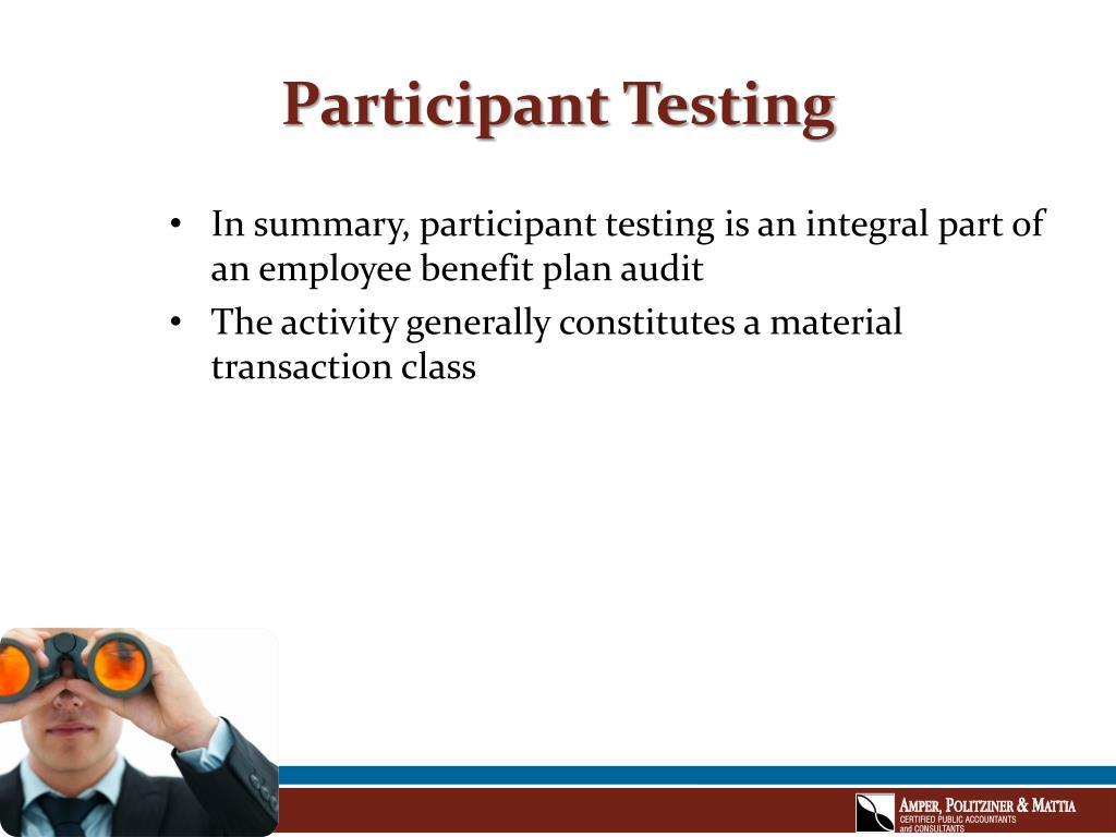 Participant Testing