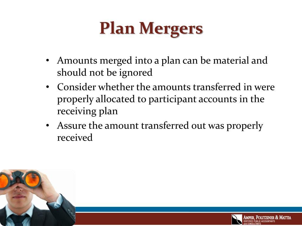 Plan Mergers