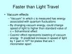 faster than light travel1
