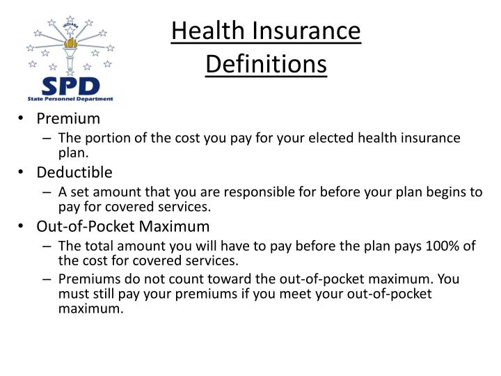 Health insurance definitions