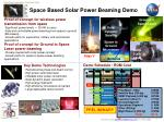 space based solar power beaming demo