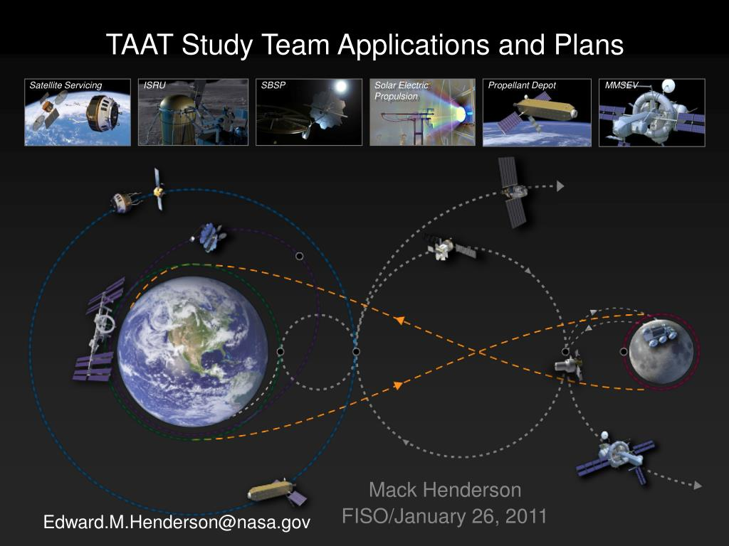 taat study team applications and plans l.