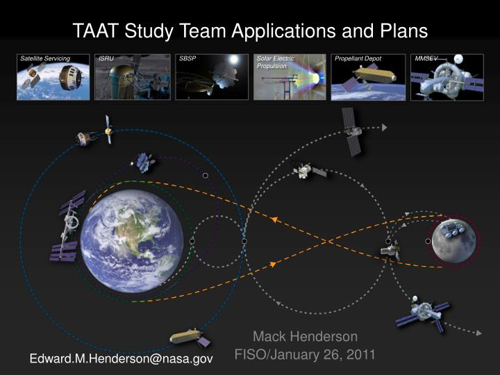 taat study team applications and plans n.