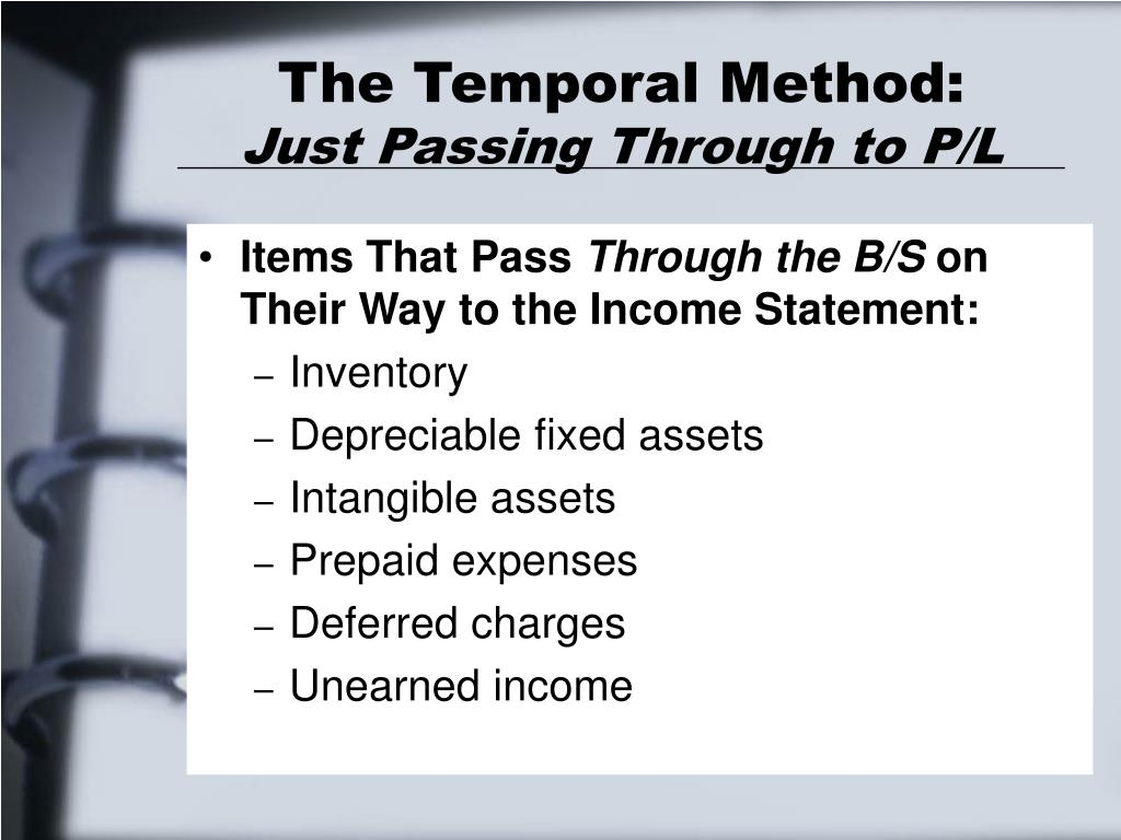 The Temporal Method: