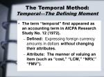 the temporal method temporal the defining moment
