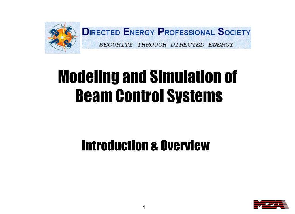 modeling and simulation of beam control systems l.