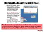 starting the wavetrain gui tve