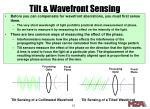 tilt wavefront sensing