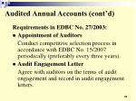 audited annual accounts cont d34