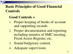 basic principles of good financial controls