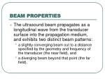 beam properties