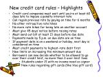 new credit card rules highlights