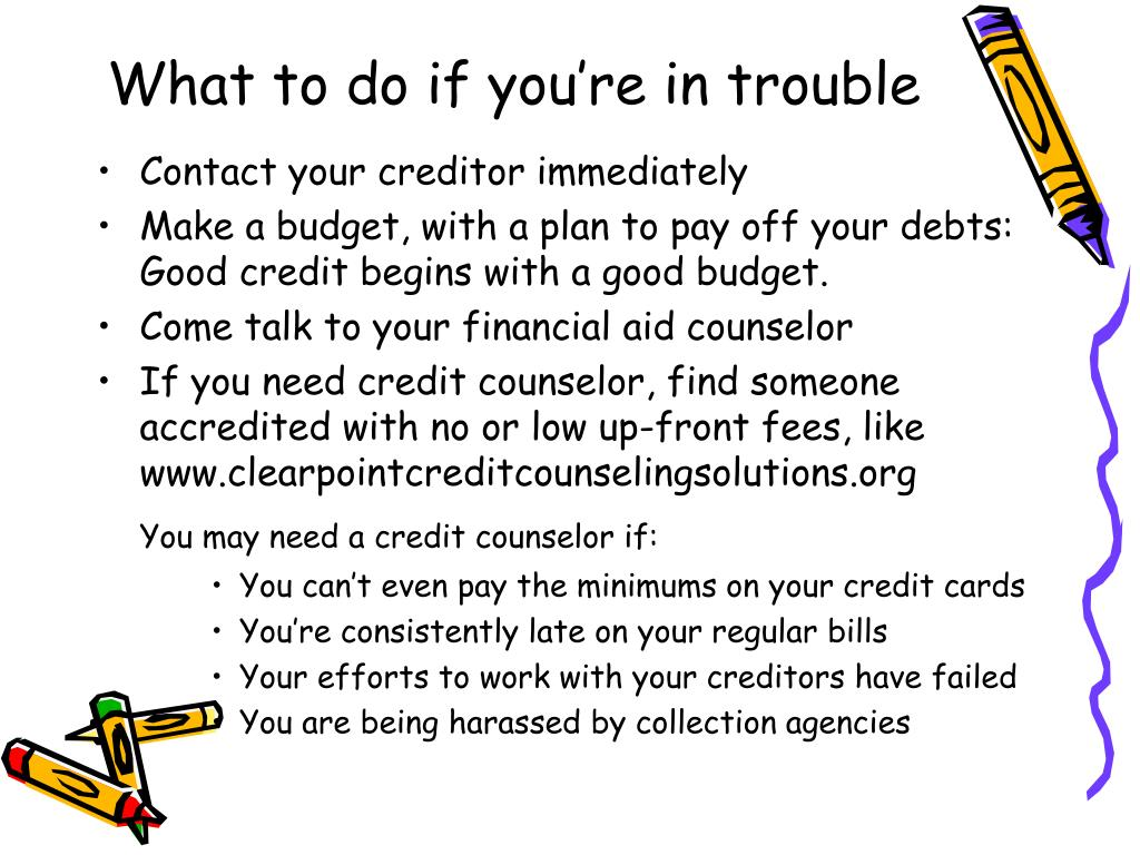What to do if you're in trouble