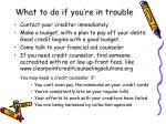 what to do if you re in trouble